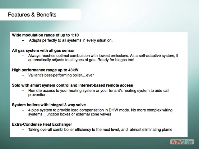 10 Features & Benefits
